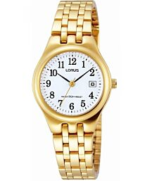 Lorus Women's Fashion Designer Analogue Gold Bracelet watch RH786AX9