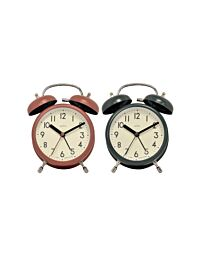 Acctim HARDWICK Double Bell Alarm Clock  1612 - Multiple colour