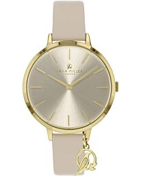 Sara Miller The Charm Collection Watch with Leather Strap SA2036
