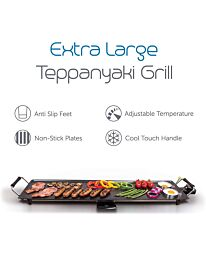 Quest Non-Stick Extra Large Electric Teppanyaki Table Top Grill- 35790