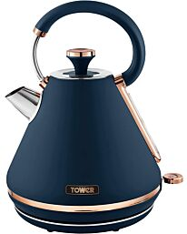 Tower Cavaletto 1.7L 3000W Pyramid Kettle - Blue/Rose Gold