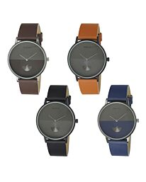 Henley Men's Classic Analogue Leather Strap Watch H02201