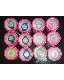 POLIT Kids Digital watch in Tin, assorted stlyes and colours CW-0025