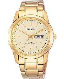 Pulsar Men's Fashion Designer Gold Bracelet Watch PJ6024