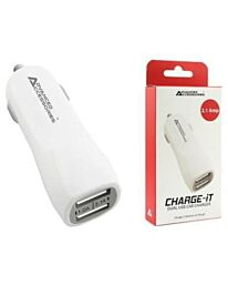 Advanced Accessories CHARGE-IT USB Car Charger-White