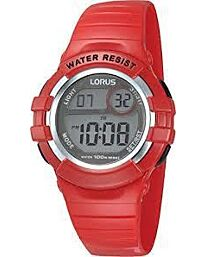 Lorus Unisex Digital Silicon Rubber Strap Red Watch R2399HX9