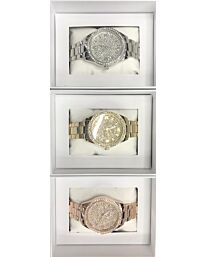 PI-7290 NY LONDON GENTS BLING WATCH ASSORTED COLOURS