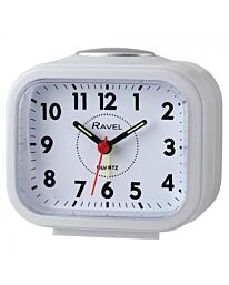 Ravel Rectangular Beep & Bell Alarm Clock White RC030.4