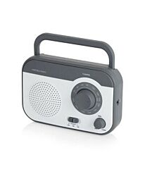 Akai AM/FM Portable Grey Radio with Built-In Rechargeable Battery A58134