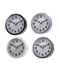 Ravel Round Quartz Sloped 3D Dial Alarm Clock RC029