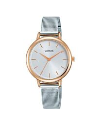 Lorus Women's Fashion Silver Analogue Bracelet Watch RG224PX9