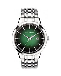 Accurist Gents Green Dial Dated Stainless Steel Bracelet Watch 7392