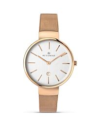 Accurist Women's Contemporary Rose Gold plated Bracelet Wristwatch 8079