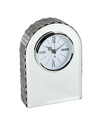 HE888 HESTIA® GLASS MIRROR ARCHED MANTEL CLOCK