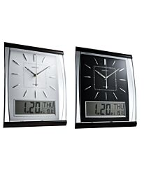 AMPLUS Silent Sweep Wall Clock With Large Digital Month/Date/Day Calendar Display