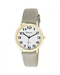 Ravel Unisex Lg Classic Strap Watch Grey R0105.43.1A