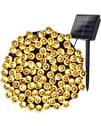Planet Solar 200 Warm White Outdoor String Solar Powered Fairy Lights 20m