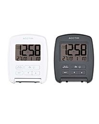 Acctim Erebus Digital Travel Alarm Clock White/Grey 15517 15512