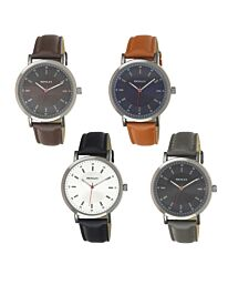 Henley Men's Classic Analogue Leather Strap Watch H02199