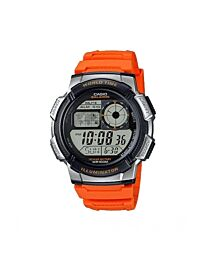 Casio Men's Digital illuminator Sports Orange Rubber Strap Watch AE-1000W-4BVDF