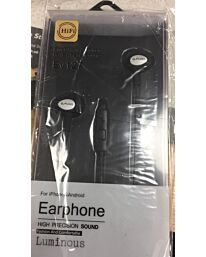 ELMCOEI Earphone Fashion and Comfortable for Iphone & Android EV127 Black