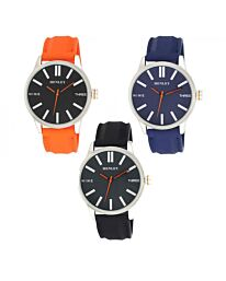 Henley Men's Bold Summer Silicone Strap Watch H02179