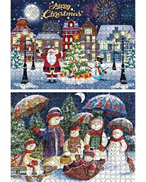 St Helens Home and Garden Twin Pack of 500 Piece Jigsaw Puzzles - Merry Christmas