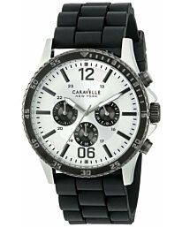 Mens Silver Quartz Chronograph CARAVELLE Men's 45A126