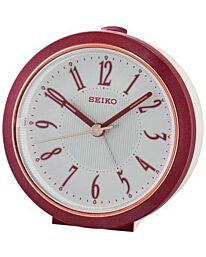 Seiko Bedside Alarm Clock with Quiet Sweep Second Hand Red QHE180R