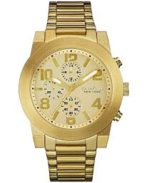 Caravelle New York Chronograph Gold-Tone Stainless Steel Men's watch 44A105