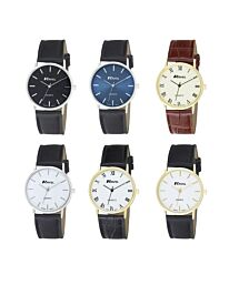 Ravel Men's Classic Dial Roman and Arabic Leather Strap Wristwatch R0129G