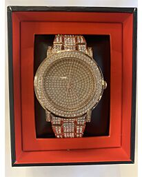 PI-7625 NY LONDON GENTS BLING WATCH ROSE GOLD