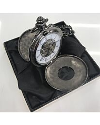 BOXX POCKET WATCH DOUBLE HUNTER PEWTER M5103.04