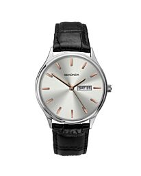 Sekonda Men Fashion Day/Date Leather Strap Watch 1686
