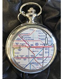 Boxx Picture Pocket watch London Underground Map P5061.24