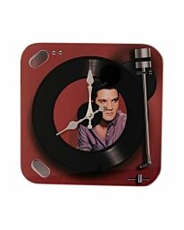 HOMETIME Iconic Collection Record Player Wall Clock - Elvis