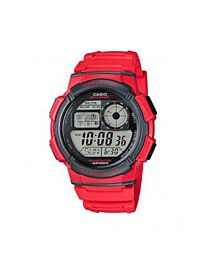 Casio Men's Digital Sports Red Resin/Rubber Strap Watch AE-1000W-4AVDF
