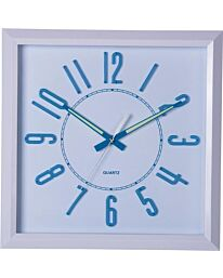 PW287 AMPLUS SQ WALL CLOCK WHITE