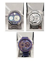 NY London Gents Jumbo size 3 Dial Watch Available Multiple Colour PI-7266