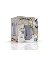 Daewoo Stockholm 1.7L 3Kw Kettle with Wood Effect Grey SDA1736GE
