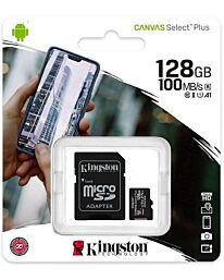 Kingston Canvas Select Plus MicroSD (SD Adapter Included)- 128GB