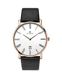 Accurist Men's Black leather strap Dated Watch 7183