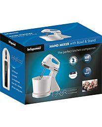 Infapower Hand Mixer with Bowl & Stand -  X102