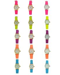 Reflex Girls Ladies White Dial Available Multiple Colour Strap Watch 1013