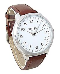 Reflex Gents watch Brown Leather Strap White Dial REF0026