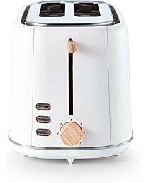 Tower Scandi 2 Slice Tower 800w T20027- White