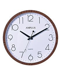 AMPLUS WALL CLOCK WOOD COLOUR EFFECT PW077