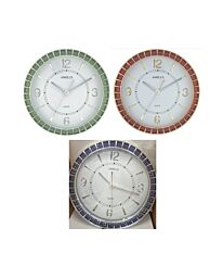 Amplus Wall Clock with Sweep Movement PW182 Available Multiple Colour