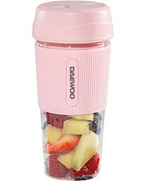 Daewoo 50W Pink Portable Rechargable Blender with 300ml Capacity and Drinking Lid- SDA1946
