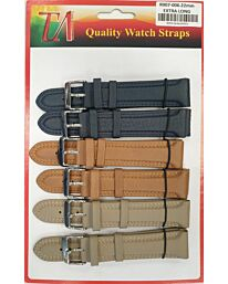 R007-006 22MM 5PK PADDED COLOUR WATCH STRAPS